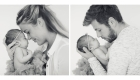 Newborn fotoshoot - papa en mama